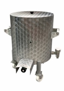 Brökelmann bijzetketel  Rond - 90Ltr - verrijdbaar